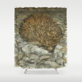 Hedgehog Shower Curtain
