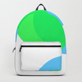 Compass: Blue and Green Backpack