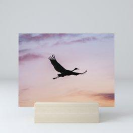 Sandhill Crane Flying Mini Art Print