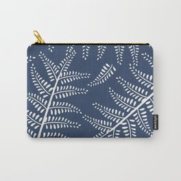 Ferns on Blue Carry-All Pouch
