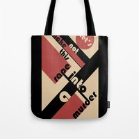 bauhaus Tote Bags featuring Bauhaus by Disfigured Circumstance
