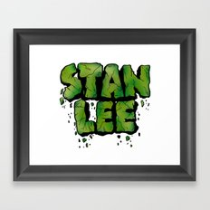 Stan Lee (Hulk) Framed Art Print