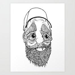 The Trucker Art Print
