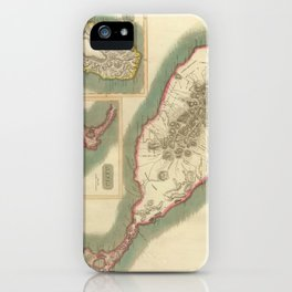 Vintage Map of Various Islands of The Caribbean iPhone Case