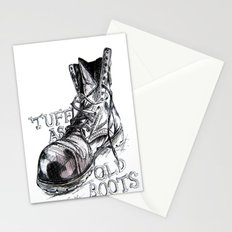 Tuff as old boots Stationery Cards