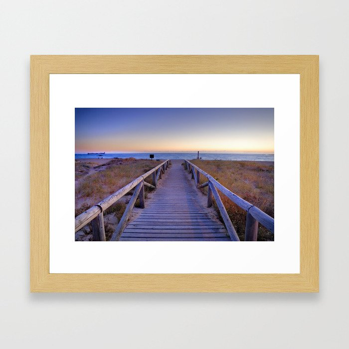 The path..., the beach.... Framed Art Print by guidomontanes | Society6