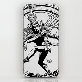 Natraj Dance - Mono iPhone Skin