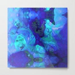 Violet Blue - Abstract Art By Sharon Cummings Metal Print
