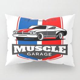Muscle Car Garage Pillow Sham
