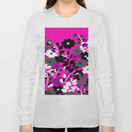 SUNFLOWER TOILE PINK BLACK GRAY WHITE PATTERN Long Sleeve T-shirt