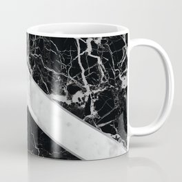 Arrows - Black Granite & White Marble #992 Coffee Mug