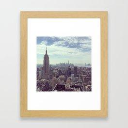New York Birds Eye Aerial View Framed Art Print