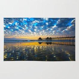 Huntington Beach Sunset   12/17/13   Rug