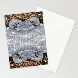 Ice Jewels and Pine Needles - Debra Cortese photo art Stationery Cards