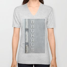 Bauhaus Building in Dessau Unisex V-Neck
