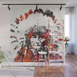 Modern Red Indian Chief - Sharon Cummings Wall Mural