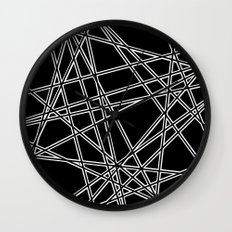 To The Edge Black #2 Wall Clock