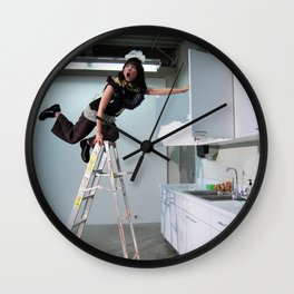 Clown On The Ladder Wall Clock