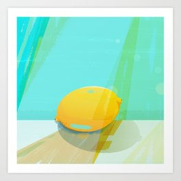 Colorful Lemon Art Print