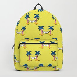 Aloha Beach Day hammock seamless3 Backpack