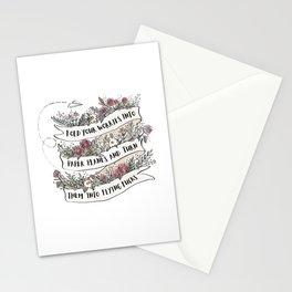 Flying fucks - white Stationery Cards