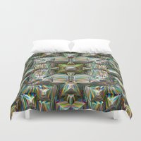 bands Duvet Covers featuring Structural Bands of Color   by Phil Perkins