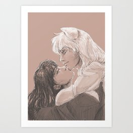 Chin-kisses Art Print