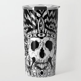 Indian chief , skull art , custom gift design Travel Mug
