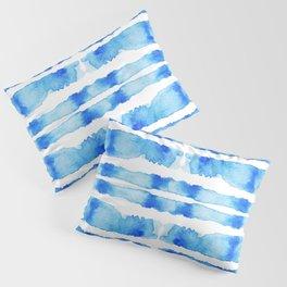 Indigo Watercolor Shibori Pillow Sham