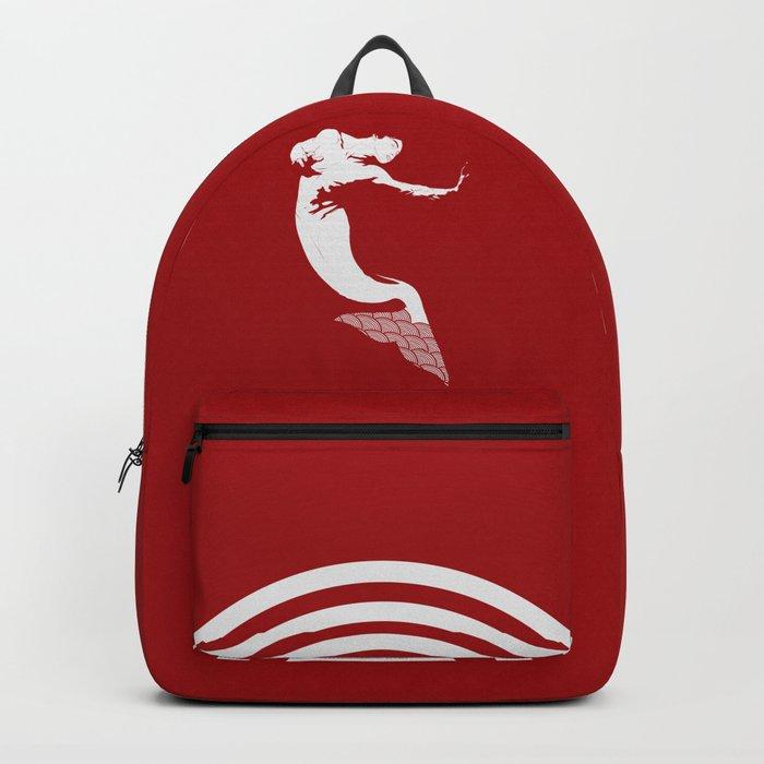 Merman - Red & White - Mermay 2019 Backpack