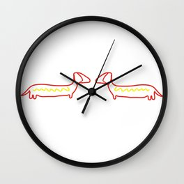 Hot Dog Wall Clock