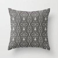 ohm Throw Pillows featuring OHM by Georgiana Paraschiv