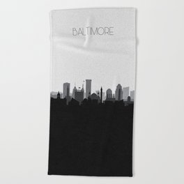 City Skylines: Baltimore (Alternative) Beach Towel