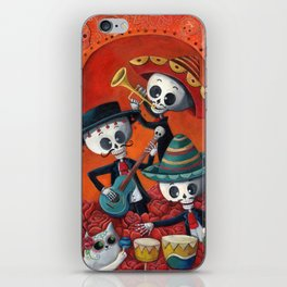 Dia de Muertos Musical Skeleton Band iPhone Skin