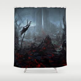 Ris Megroth Shower Curtain