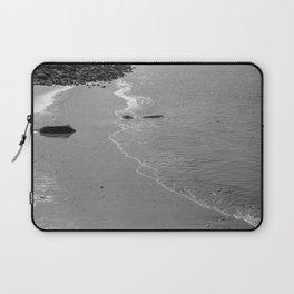 Lisbon sea 4 black white Laptop Sleeve