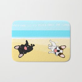 Frenchies Rolling In The Sand Bath Mat