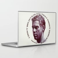 steve mcqueen Laptop & iPad Skins featuring Steve McQueen by RSassi