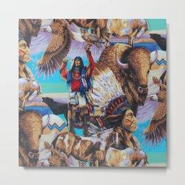 American Native Pattern No. 199 Metal Print