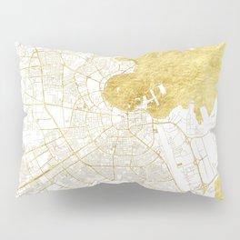 Doha Map Gold Pillow Sham