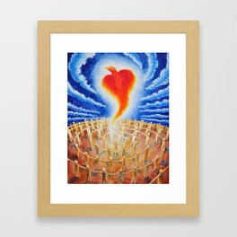 PHX Ascends, Spreading Love Like A Wildfire Framed Art Print