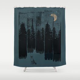 A Fox in the Wild Night... Shower Curtain