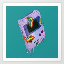 Gameboy Melt Art Print
