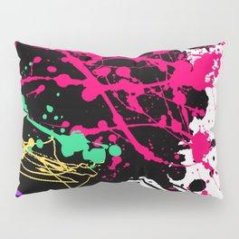 Funky splatter Pillow Sham