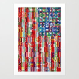 American Flags Of The World 2 Art Print