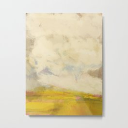the sky over the fields abstract landscape Metal Print