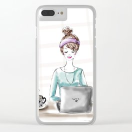 Busy Blogger Clear iPhone Case