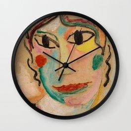 Alexej von Jawlensky - Mystischer Kopf - Mystical Head Wall Clock