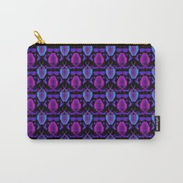 80s Neon Trilobite Pattern Carry-All Pouch