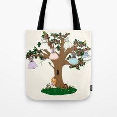 Lilith et Adalia's Blooming Dresses Tote Bag